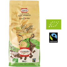 Bio prémium 100 % Arabica egész kávé,  500 g Morandini caffe, Fairtrade