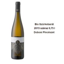 Bio Szürkebarát száraz fehérbor 0,75 l Dobosi Pincészet 2015