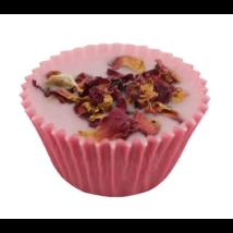 Bio, vegán fürdőkrém praliné, mezei rózsa illattal 35 g Velvety Manufaktur