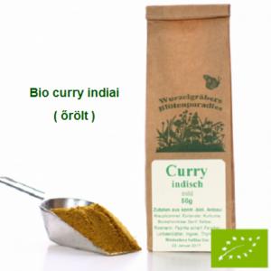 Curry indiai, őrölt Bio 50 g Wurdies