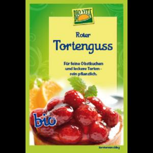 Vörös színű tortaöntet bio 16 g Biovita Naturkost