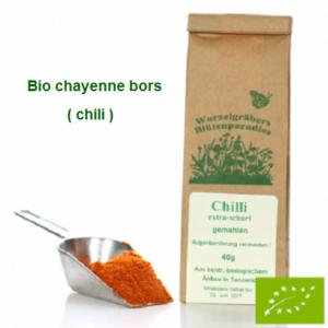 Cayenne bors (chili) őrölt, Bio 40 g Wurdies