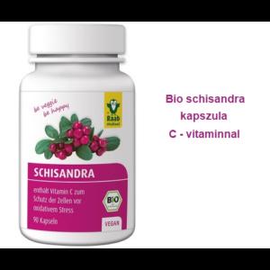 Schisandra (Életbogyó) kapszula 90 db BIO Raab Vitalfood (45 napi adag)
