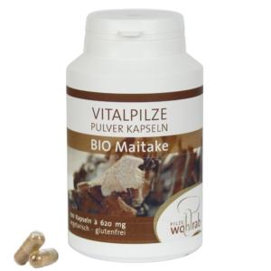 Bokrosgomba-Maitake BIO gyógygomba por kapszula 100 db, 620 mg Pilze Wohlrab