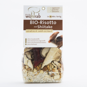 Bio rizottó szárított Shiitake gombával 175 g Pilze Wohlrab ( 2 adag )