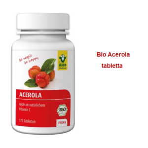 Acerola tabletta BIO 175 db Raab Vitalfood (2 havi adag)