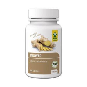 Gyömbér tabletta Bio 360 db 250 mg 90 g (2 havi adag) Raab Vitalfood