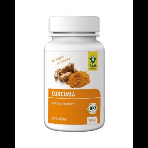 Kurkuma tabletta Bio 300 db 300 mg 90 g (1 havi adag) Raab Vitalfood