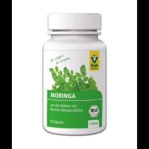 Bio Moringa kapszula C-vitaminnal 90 db, 400 mg Raab Vitalfood