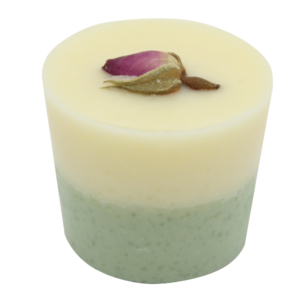 Bio, vegán fürdőkrém pohár, lágy virágillattal 45 g Velvety Manufaktur