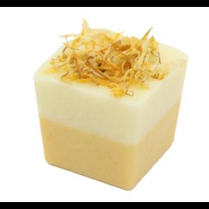 Bio, vegán fürdőkrém kocka, lime illattal 50 g Velvety Manufaktur