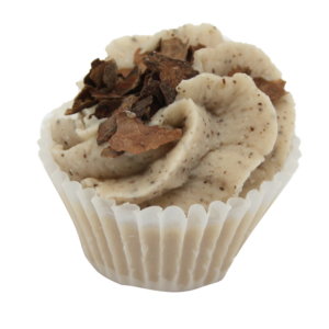 Bio, vegán fürdőkrém muffin, csokoládé illattal 45 g Velvety Manufaktur