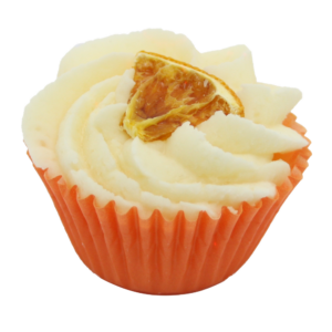Bio, vegán fürdőkrém muffin, narancs illattal 45 g Velvety Manufaktur