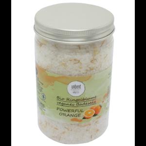 Bio, vegán fürdősó Erőteljes narancs 470 g Velvety Manufaktur