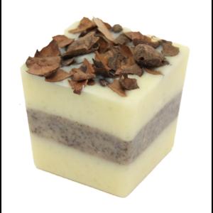 Bio, vegán fürdőkrém kocka, krémes forró csoki illattal 50 g Velvety Manufaktur