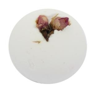Natúr, vegán fürdőbomba, óriásgolyó, mezei rózsa illat 170 g Velvety Manufaktur