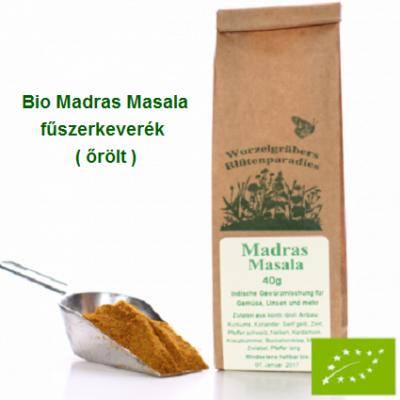 """""""Madras Masala"""" fűszerkeverék, Bio 40 g Wurdies"""