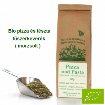 Pizza és tészta fűszerkeverék, Bio 30 g Wurdies