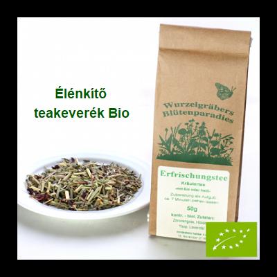 Élénkítő, hangulatjavító teakeverék Bio 50 g Wurdies