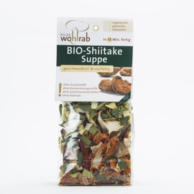 Bio szárított Shiitake leves, zöldségekkel 50 g Pilze Wohlrab ( 2 adag )
