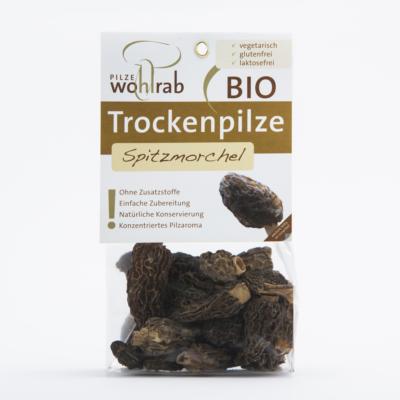 BIO Hegyes kucsmagomba szárított 15g (Morchella elata) Pilze Wohlrab