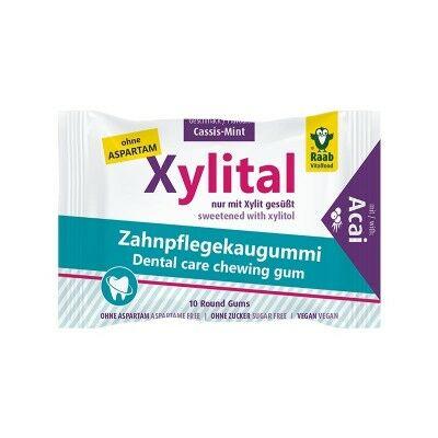 Xylital fogápoló rágógumi, acai-feketeribizli-menta 19 g 10 db Raab Vitalfood