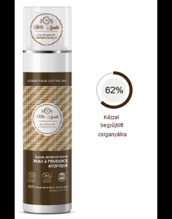 Testápoló elixír atópiás bőrre 62 % csiganyákkal Bio 50 ml MLLE AGATHE