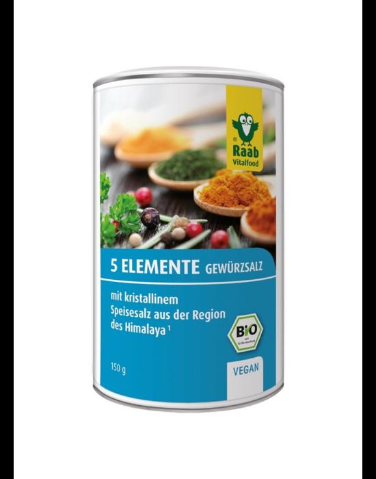 5 elem bio fűszersó különlegesség, 150 g Raab Vitalfood