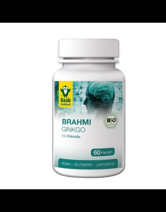 Brahmi-Gingko kapszula Chlorellával BIO 60 db 550 mg Raab Vitalfood