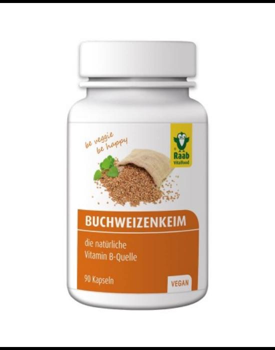 Hajdina csíra kapszula 90 db 600 mg (3 havi adag) Raab Vitalfood
